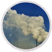 Dying Texas Supercell Round Beach Towel
