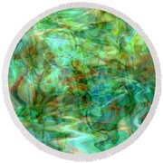 Dynamic Abstract Art Round Beach Towel