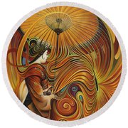 Dynamic Oriental Round Beach Towel