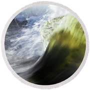 Dynamic River Wave Round Beach Towel