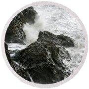 Dyrholaey Surf Round Beach Towel