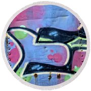 E Is For Equality Round Beach Towel by Donna Blackhall