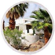 E. Stewart Williams Home Palm Springs Round Beach Towel