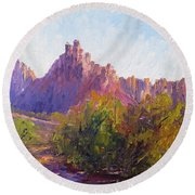 Eagle Crags Round Beach Towel
