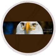 Eagle Eyes Round Beach Towel