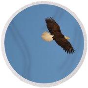 Eagle Flight 2 Round Beach Towel
