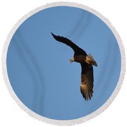 Eagle Flight 3 Round Beach Towel