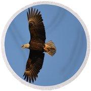 Eagle Flight 4 Round Beach Towel