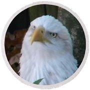 Eagle Head Round Beach Towel