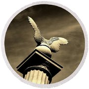 Eagle In Stone Round Beach Towel