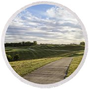 Eagle Knoll Golf Club - Hole Four Round Beach Towel