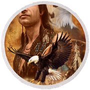 Eagle Montage Round Beach Towel