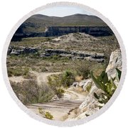 Eagle Nest Canyon Round Beach Towel