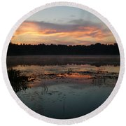 Eagle River Sunrise No.5 Round Beach Towel