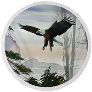 Eagle Wilderness Round Beach Towel