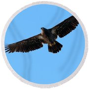 Eagle Wings Round Beach Towel