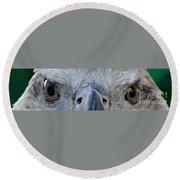 Eagle's Eyes Round Beach Towel