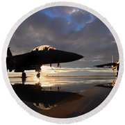 Eagles Sunset Round Beach Towel