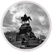 Eakins Oval In Winter Round Beach Towel by Bill Cannon