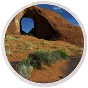 Ear Of The Wind Arch Round Beach Towel