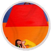 Ear To The Ground Round Beach Towel