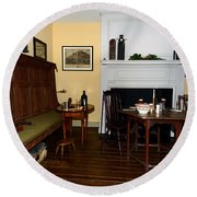 Early American Dining Room Round Beach Towel