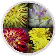 Early Autumn Blossoms Round Beach Towel