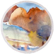 Early Morning 55 Round Beach Towel