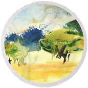 Early Morning 62 Round Beach Towel