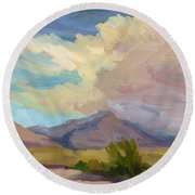 Early Morning At Thousand Palms Round Beach Towel