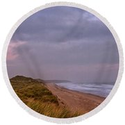 Early Morning At Warkworth Round Beach Towel