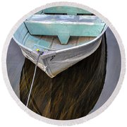 Early Morning Dock Round Beach Towel