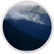 Early Morning Fog Round Beach Towel
