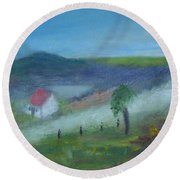 Early Morning In Donegal Round Beach Towel