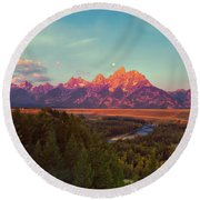 Early Morning Light Round Beach Towel