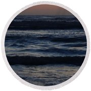 Early Morning Ocean Round Beach Towel