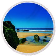 Early Morning On The Beach II Round Beach Towel