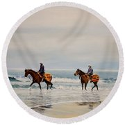 Early Morning Paddle Round Beach Towel