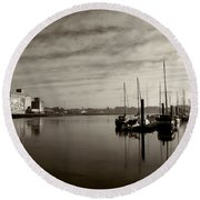 Early Morning River Suir, Waterford Round Beach Towel