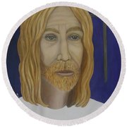 Early Perception Of Jesus. Round Beach Towel