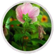 Early Summer Bloom Round Beach Towel