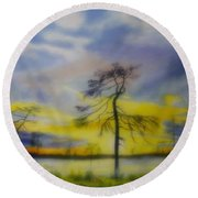 Early Summer Morning Round Beach Towel