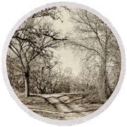 Early Winter Round Beach Towel