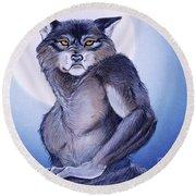 Ears Of The Werewolf Round Beach Towel