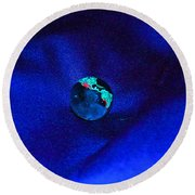Earth Alone Round Beach Towel by First Star Art