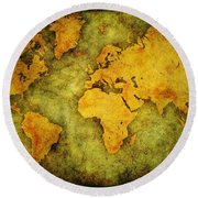 Earth And Brine Round Beach Towel