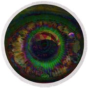 Earth And Soul Round Beach Towel