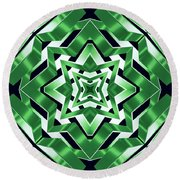 Earth Band Round Beach Towel