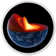 Earth Core Structure - Isolated Round Beach Towel