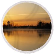 Earth Day Sunrise II Round Beach Towel